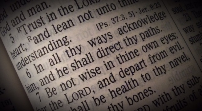 Proverbs 3:6 In all thy ways acknowledge him, and he shall direct thy paths.